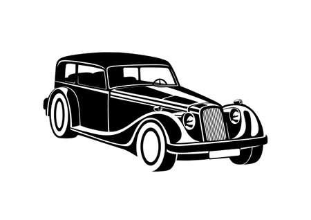 Black classic auto sport