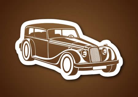 Brown classic auto over brown