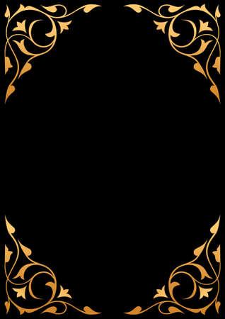 Golden patterns over black