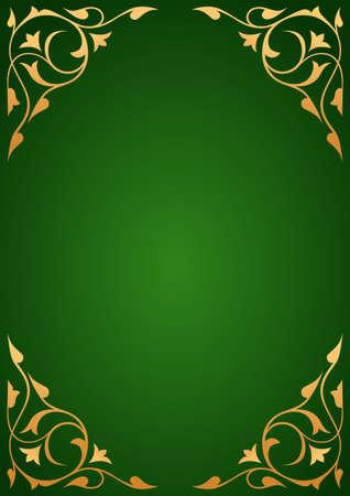 Golden patterns over green