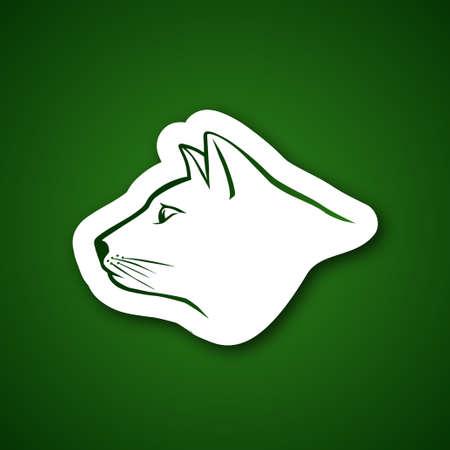horse like: Cat head over green