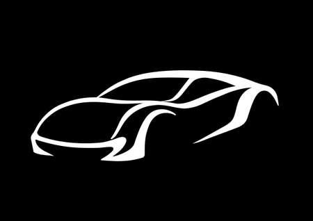 White car over black  向量圖像