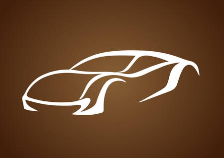 Logo of auto over brown