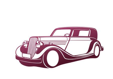 classic cars: Pink classic car