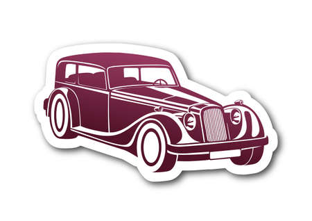 Pink sport classic automobile over paper