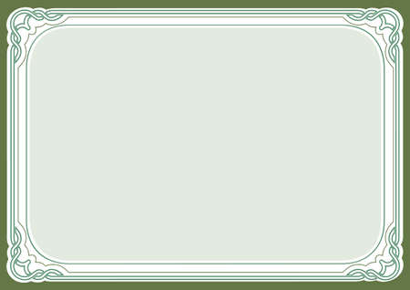 Green background and frame