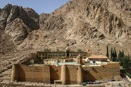 monastery: Egypt. St. Catherines Monastery Stock Photo