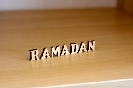 Ramadan wood letters