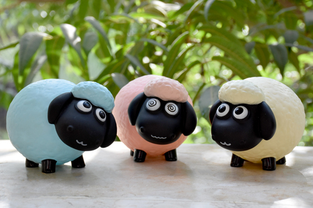 Eid Mubarak cute sheep doll