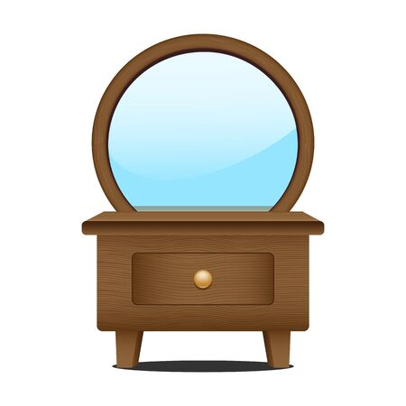 dressing: Dressing console and mirror Illustration