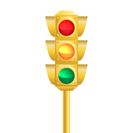 golden rule: Realistic traffic light. illustration isolated on the white background.
