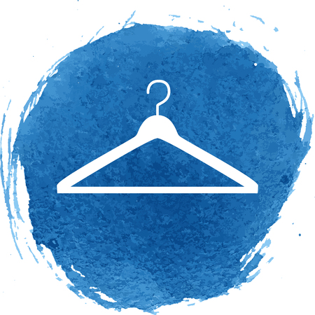 Hanger icon with watercolor effect, vector illustration. Ilustracja