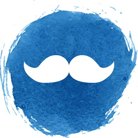 burly: Moustaches icon with watercolor effect, vector illustration.