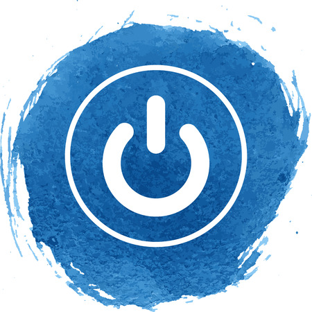electrical part: On Off switch icon with watercolor effect, vector illustration.