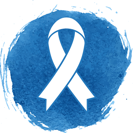 substance abuse awareness: Awareness ribbon icon with watercolor effect, vector illustration.