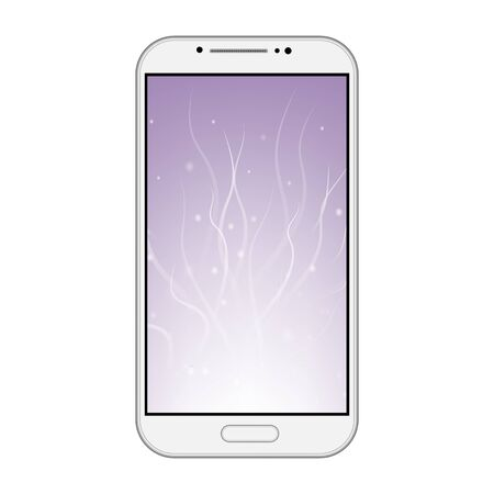 isolation: Modern smart phone isolation on white background vector illustration