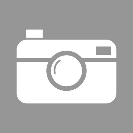 digital photo: Digital photo camera. Flat style icon. Vector illustration