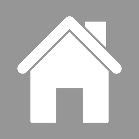 White home. Flat style icon. Vector illustration