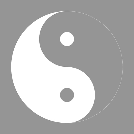 yang style: Ying yang symbol of harmony and balance. Flat style icon. Vector illustration Illustration