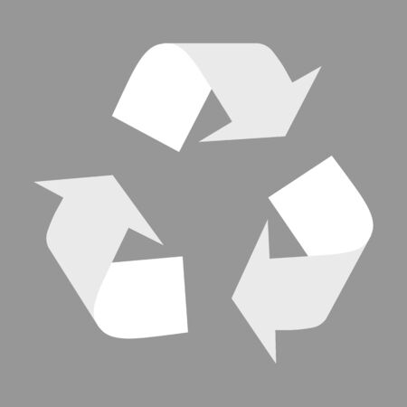 recyclable waste: Recycle logo concept. Flat style icon. Vector illustration Illustration