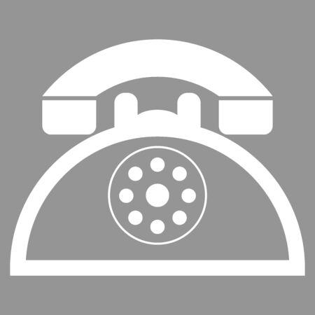 retro telephone: Retro telephone. Flat style icon. Vector illustration