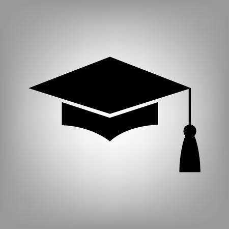 Mortar Board or Graduation Cap, Education symbol. Flat style icon. Vector illustration