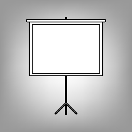 projection: Blank Projection screen. Flat style icon. Vector illustration Illustration
