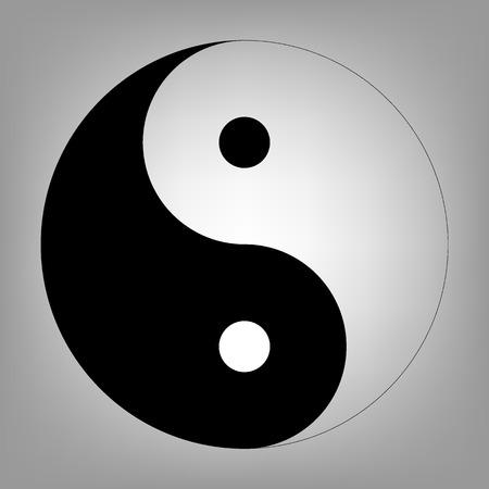 yang style: Ying yang symbol of harmony and balance. Flat style icon. Vector illustration Illustration