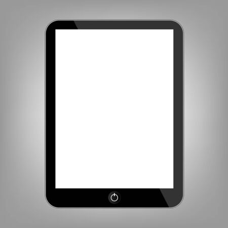 touch sensitive: Computer tablet. Flat style icon. Vector illustration Illustration