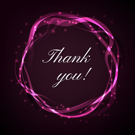 thank you very much: Thank you card background. Vector illustration with Smooth circkles. Illustration