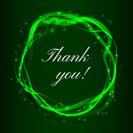 thank you very much: Thank you card background. Vector illustration with smooth circkles.