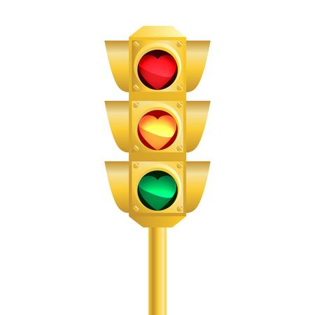 alloy: Realistic traffic light. Vector illustration on black