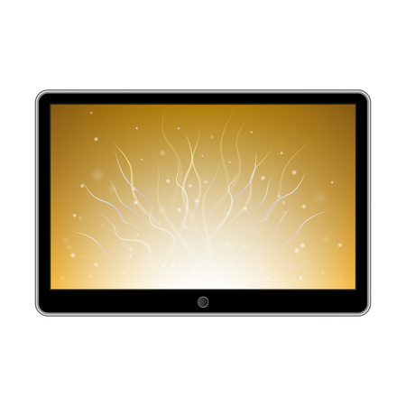 palmtop: Abstract style modern gadgets isolated on the white background. Tablet. Illustration
