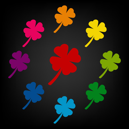 patric icon: Clover leaf icon. Vector colorfull design elemens