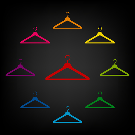 Hanger - Vector icon. Vector colorfull design elemens