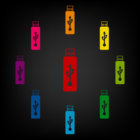 usb flash drive: Usb flash drive icon.Vector colorfull design elemens Illustration
