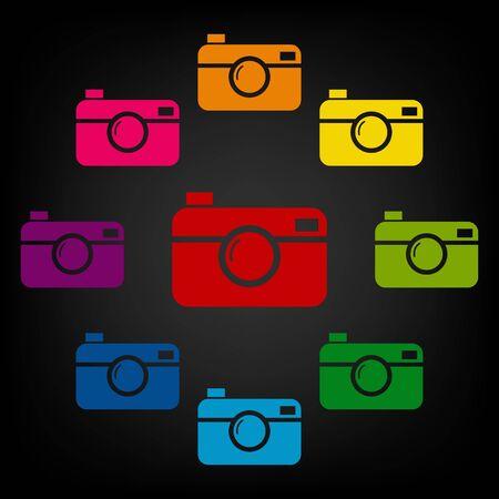 digital photo: digital photo camera icon.Vector colorfull design elemens