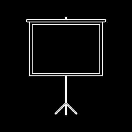 projection: Blank Projection screen. White on the black
