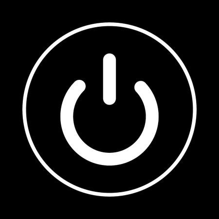 electrical part: On Off switch icon. White on the black