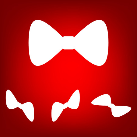 prom: Vector green Bow Tie icon set. Isometric effect
