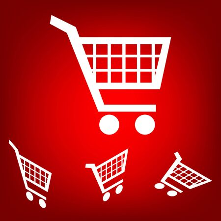 purchases: Shopping cart icons  for online purchases- vector set. Isometric effect