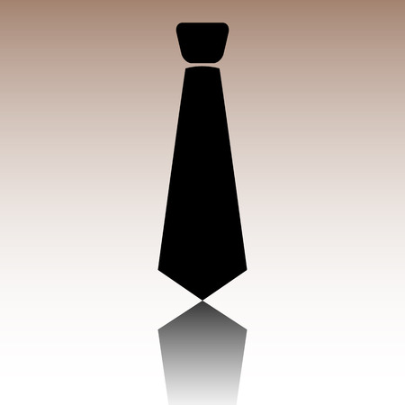 black tie: Black Tie icon. Vector illusstration with reflection