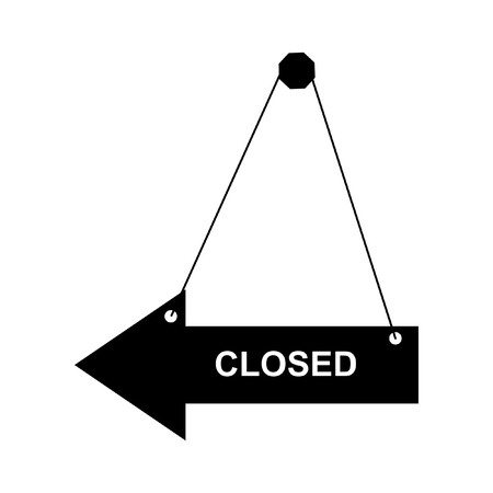 doorhandle: Vector closed door sign.  Isolated on the white background Illustration