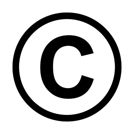 Copyright symbol icon. Isolated on white background