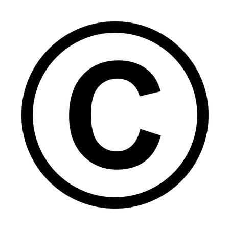 Prawa autorskie ikonę symbolu. Pojedynczo na białym tle Ilustracje wektorowe