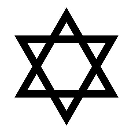 estrella de david: Estrella de David. Símbolo de Israel. Aislado en el fondo blanco