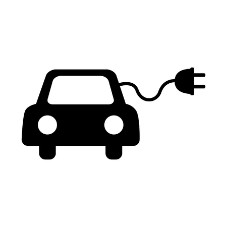 echnology: Eco electrocar symbol isolated on white background Illustration