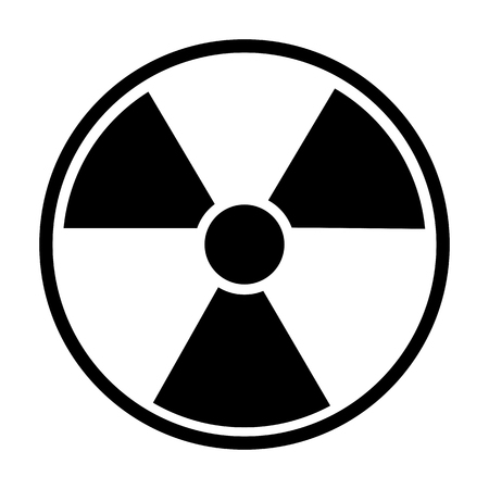perilous: Radiation Round Sign isolated on white background. Vector illustration