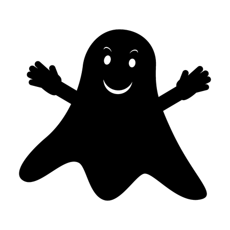 ghastly: Simple icon ghost isolated on white background. Vector illustration
