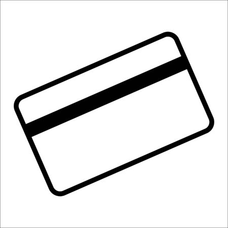 magnetic clip: Credit card symbol for download. Vector icons for video, mobile apps, Web sites and print projects. Illustration